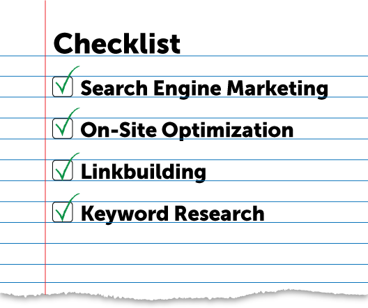 SEO package checklist