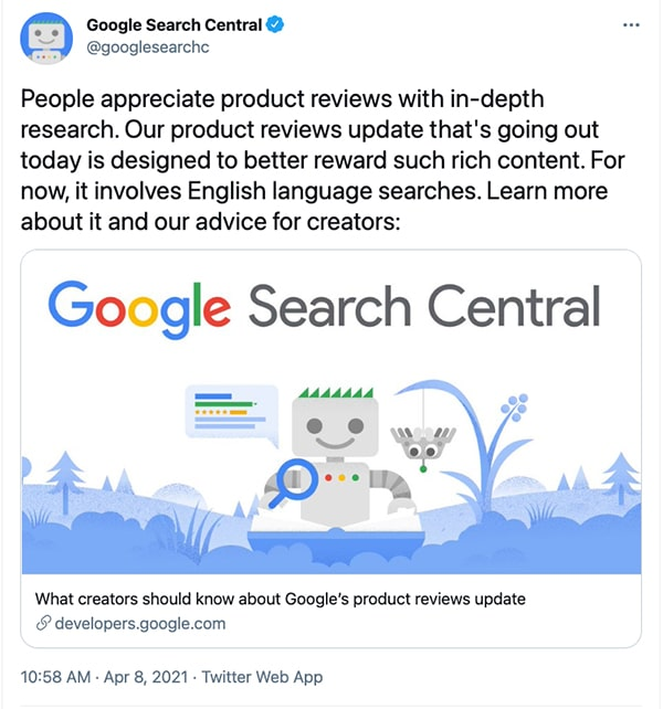 google-product-review-tweet
